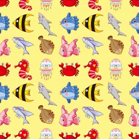 Seamless pattern pescado, dibujos animados ilustración vectorial Foto de archivo - 17033061