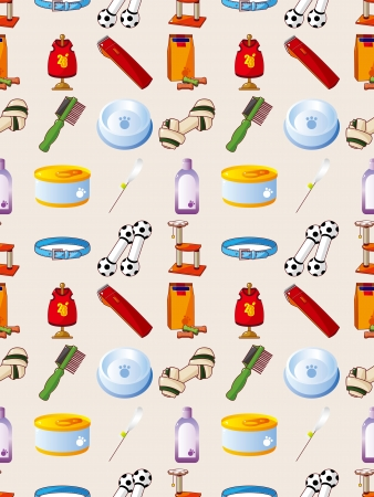 pet tool seamless pattern,cartoon vector illustration Vector