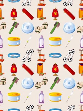 pet tool seamless pattern,cartoon vector illustration