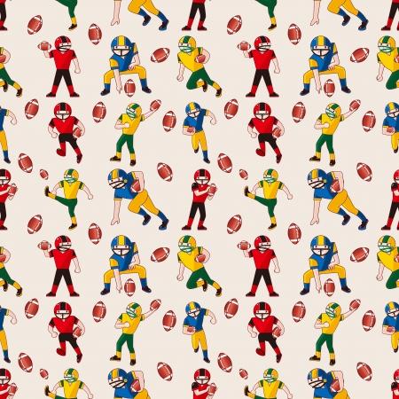 seamless football pattern,cartoon vector illustration