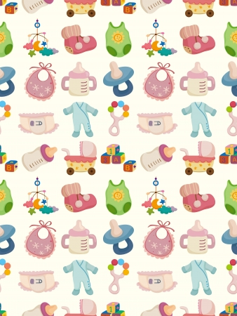 seamless baby toy pattern,cartoon illustration Vector
