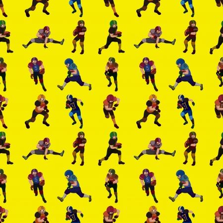 seamless football pattern,cartoon illustration Stock Vector - 17432963