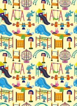 seamless park playground pattern,cartoon illustration Illustration