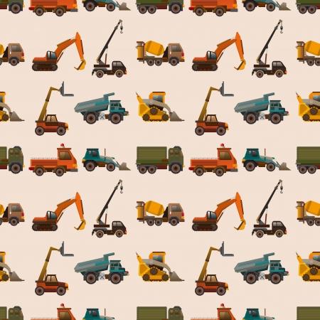 naadloos vrachtwagenpatroon, beeldverhaalillustratie
