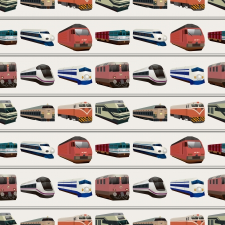 bogie: seamless train pattern,cartoon illustration