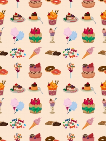 seamless candy pattern,cartoon illustration Vector