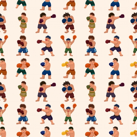 seamless boxer pattern,cartoon illustration Vector