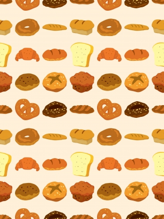 seamless bread pattern,cartoon illustration Stock Vector - 17560160