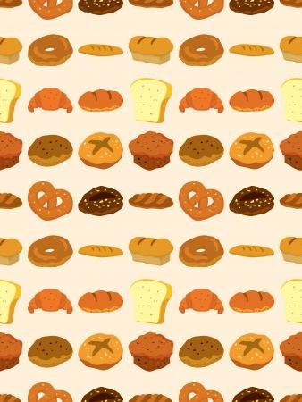 toasted: seamless bread pattern,cartoon illustration Illustration
