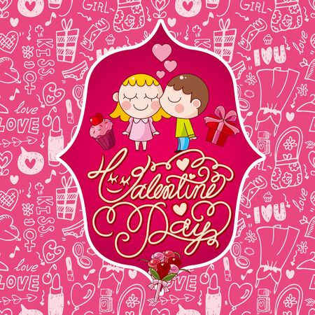 valentine's card Stock Vector - 17560158