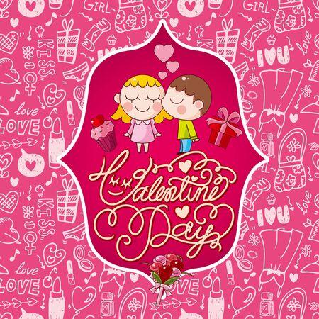 valentine's card Stock Vector - 17560158