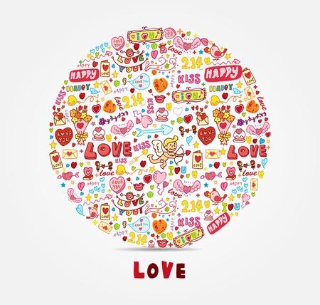 cartoon love card,cartoon vector illustration Stock Vector - 17740144