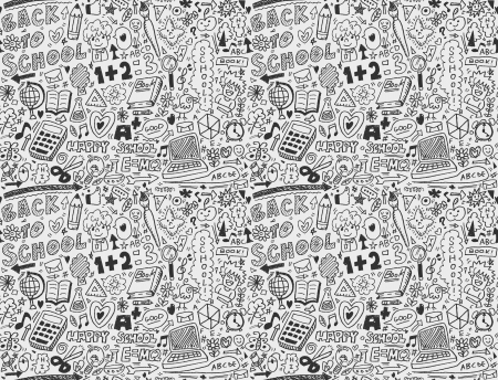 math: seamless school pattern