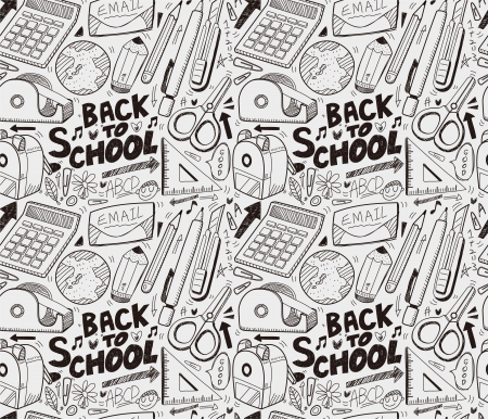 back icon: seamless school pattern