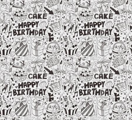 decorate element: seamless birthday pattern