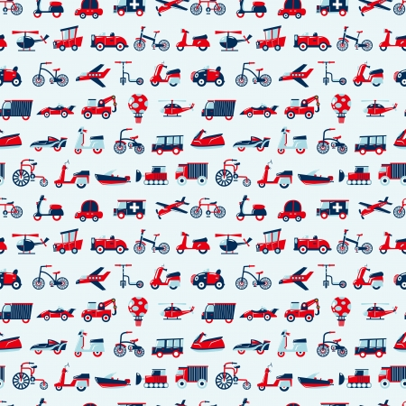 seamless retro transport pattern Vector