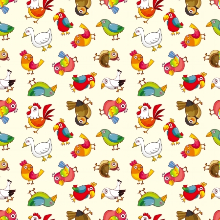 waterfowl: seamless bird pattern