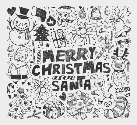 doodle christmas element Stock Vector - 18373236