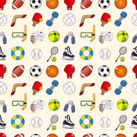 laps: seamless sport element pattern