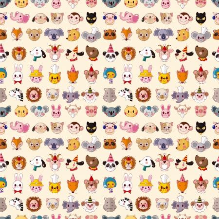 sea goat: seamless animal face pattern Illustration