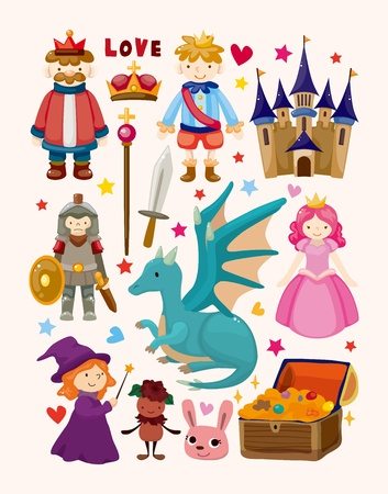set of fairy tale element icons Stock Vector - 19067811
