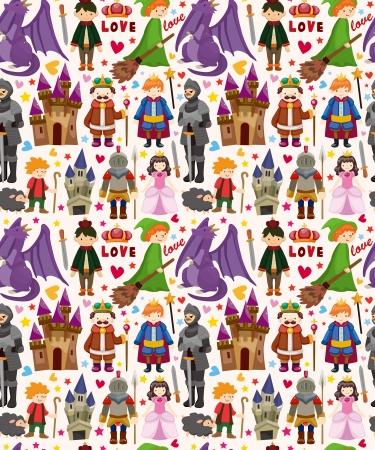 a fairy tale: seamless Fairy tale pattern Illustration