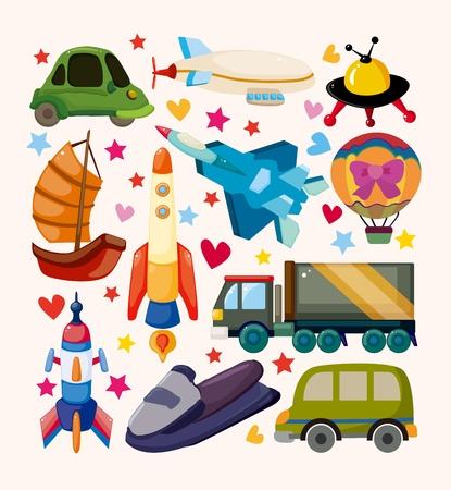 flying boat: conjunto de iconos de transporte