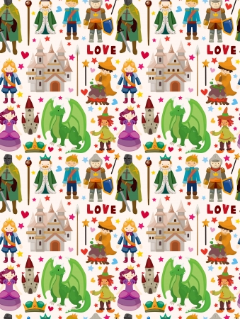 seamless Fairy tale pattern Vector