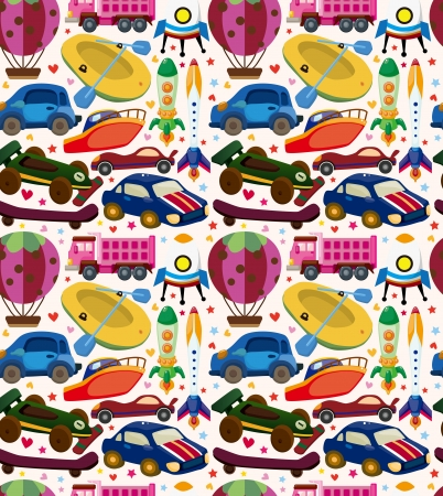 seamless transport pattern Vector