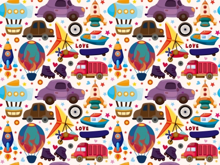 seamless transport pattern Stock Vector - 19375759