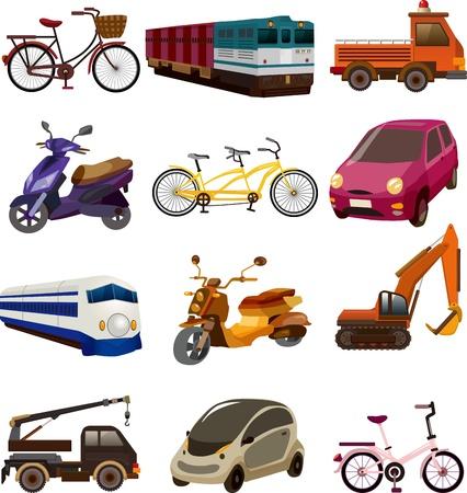 zug cartoon: Satz von Transport-Symbole