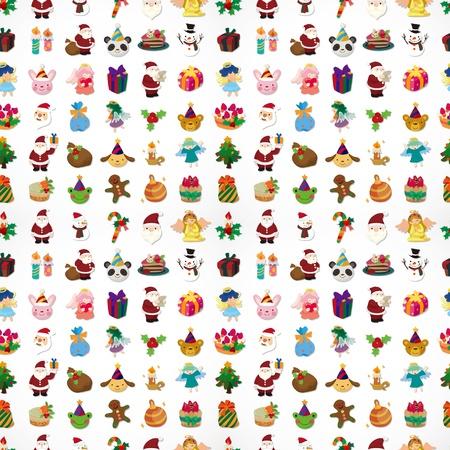 wrapper: seamless Christmas pattern Illustration
