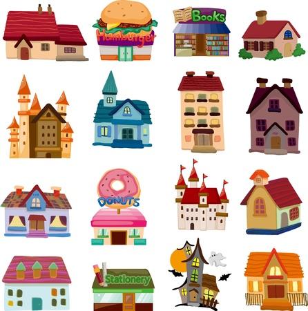 Set von house icons