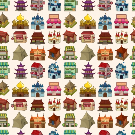 seamless house pattern Stock Vector - 20074049