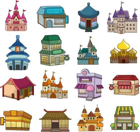 property of china: set of house icons
