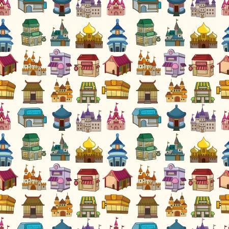 property of china: seamless house pattern