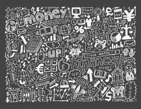 doodle Finance pattern Stock Vector - 20074044