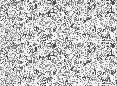 seamless financial pattern Stock Vector - 20074051