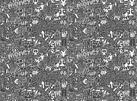 seamless financial pattern Vector