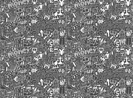 seamless financial pattern Illustration