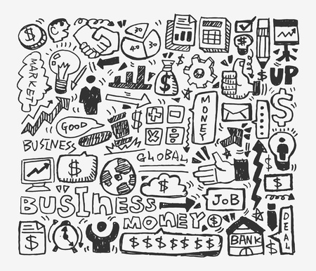 doodle business element Stock Vector - 20074037