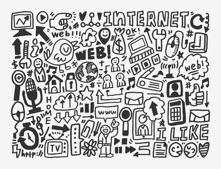 doodle network element Stock Vector - 20298660