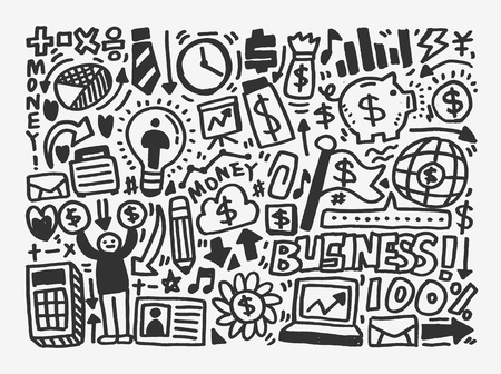 doodle business element Stock Vector - 20298644