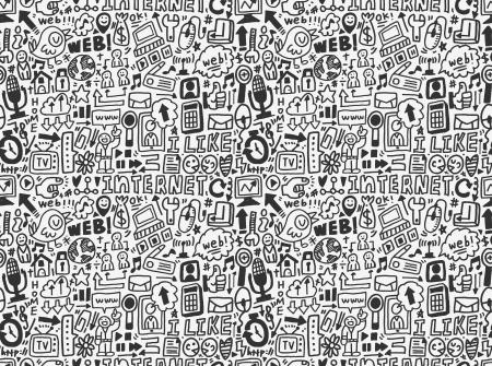 social gathering: seamless internet network pattern Illustration