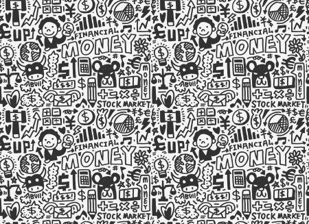 doodle Finance pattern Stock Vector - 20298661