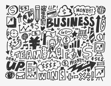 doodle business element,cartoon vector illustration Vector