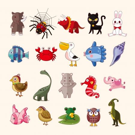 sunfish: set of animal icons