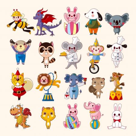 unicycle: set of animal icons