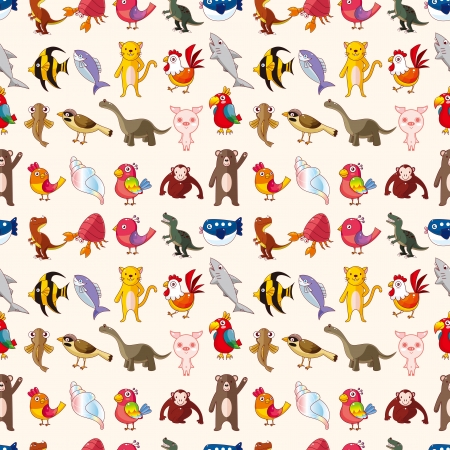 seamless animal pattern Vector