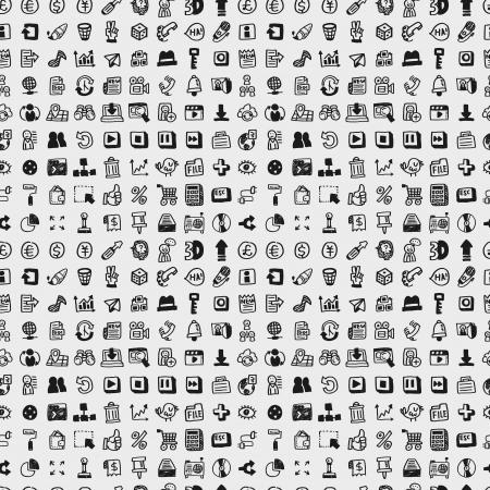 icone maison: mod�le de r�seau doodle transparente